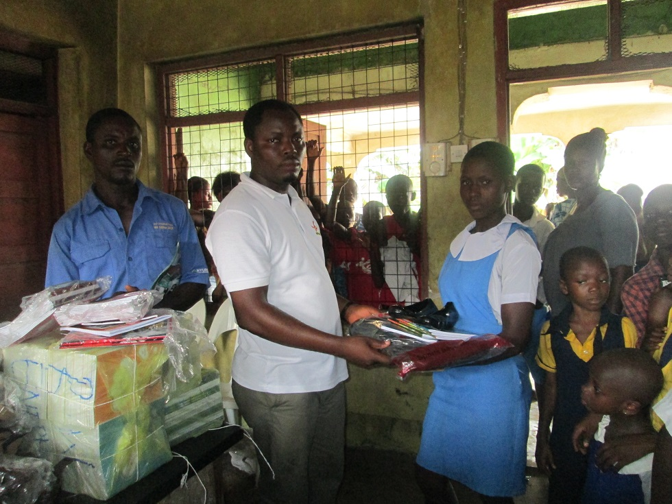 Presentation of Educational support material to a beneficiary (OVC)